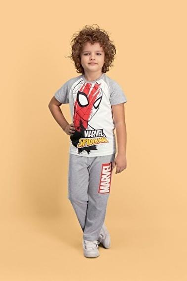 Spider-Man Spider Man Lisanslı Krem Erkek Çocuk Pijama Takımı Krem